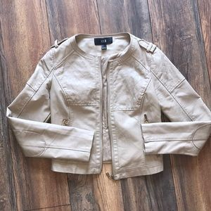 Forever 21 faux leather motto jacket in size large